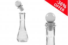 Offre spéciale ! Flacon en verre 50 ml transparent avec bouchon en verre - De 1,75 € à 1,12 € l'unité