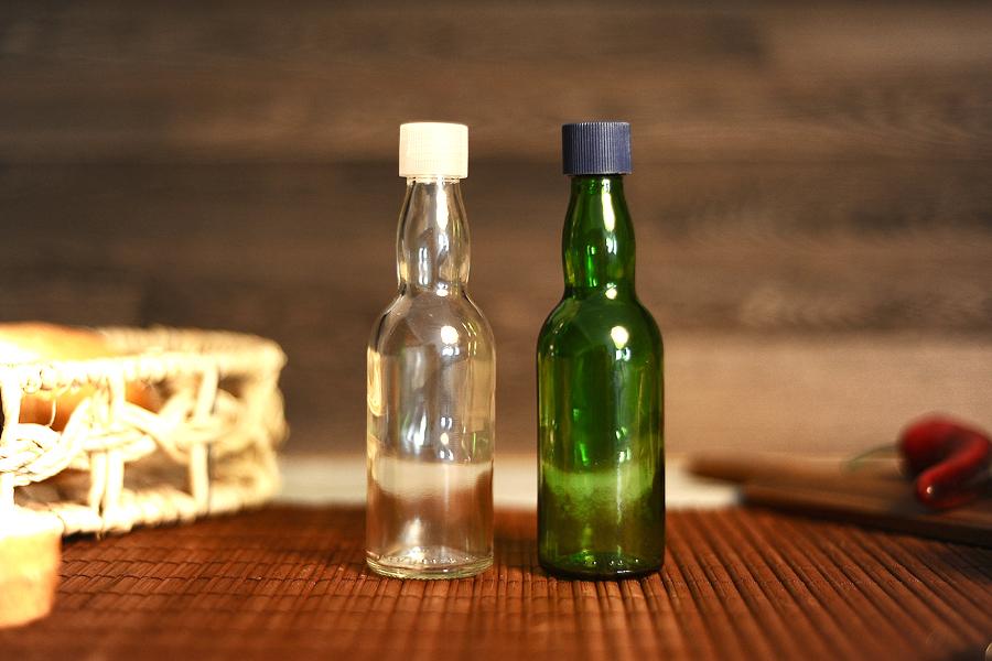 Μπουκάλι 100 ml γυάλινο στρογγυλό