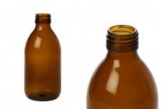 Φιάλη φαρμακευτική 250 ml γυάλινη καραμελέ για αρώματα και έλαια