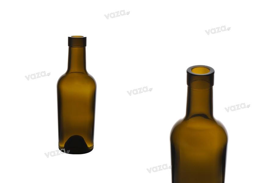 Μπουκάλι 250 ml γυάλινο, καραμελέ για κρασί και ποτά