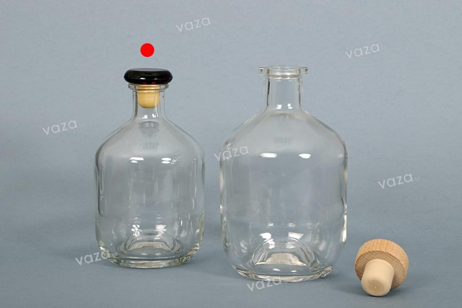 Φιάλη 500 ml γυάλινη σε κυλινδρικό σχήμα για ποτά