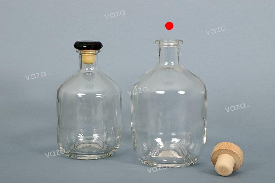 Φιάλη 700 ml γυάλινη σε κυλινδρικό σχήμα για ποτά