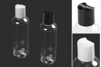 100 ml plastic bottle (PET) with Disk-top lid - 12 pcs