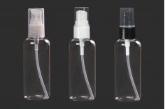 Flacon de 100 ml en plastique (PET) avec pompe - 12 pièces