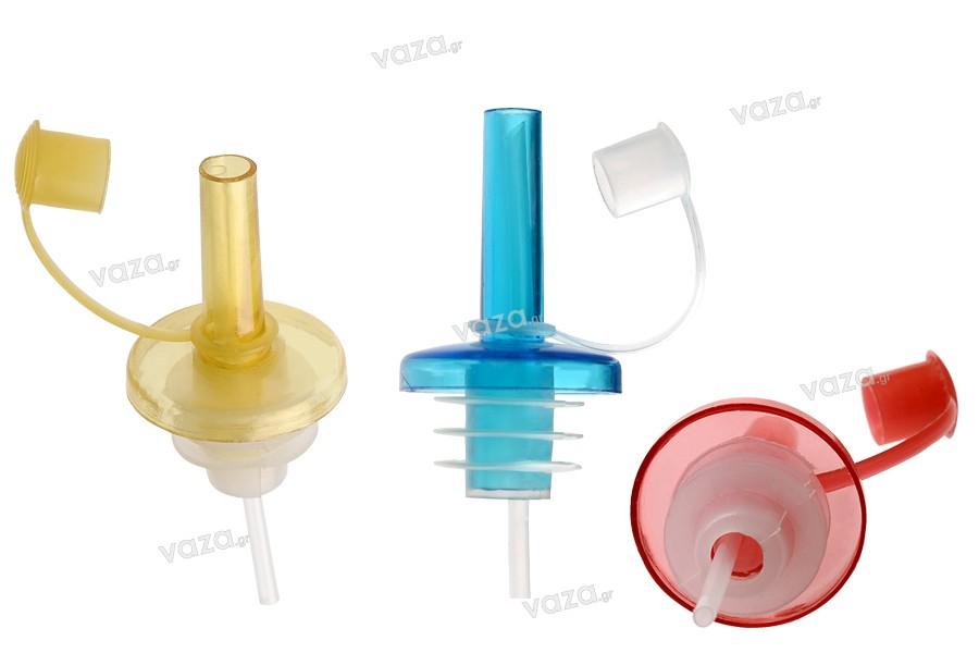 Πλαστικό πώμα ροής για ελαιόλαδο που εφαρμόζει σε όλα τα στόμια - mix color