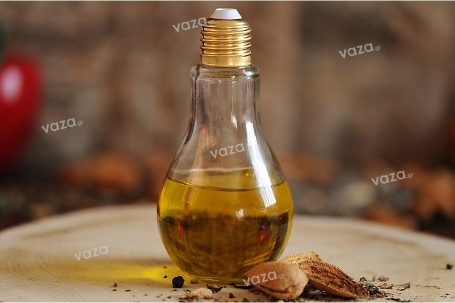 Μπουκάλι γυάλινο σε ιδιαίτερο σχήμα λάμπας 180 ml - χωρίς καπάκι