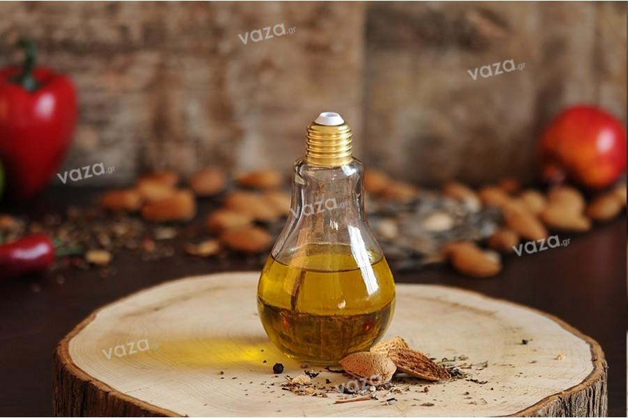 Μπουκάλι γυάλινο σε ιδιαίτερο σχήμα λάμπας 250 ml - χωρίς καπάκι