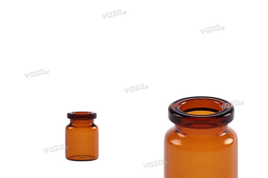 Μπουκαλάκι 3 ml γυάλινο, καραμελέ για φάρμακα και ομοιοπαθητικά - 12 τμχ