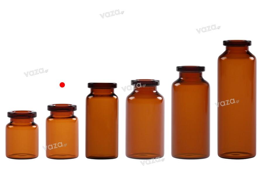 Μπουκαλάκι 5 ml γυάλινο, καραμελέ για φάρμακα και ομοιοπαθητικά - 12 τμχ