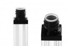 Θήκη ακρυλική για lip gloss 8 ml με καπάκι σε χρώμα μαύρο