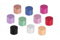 Καπάκι πολυτελείας αλουμινένιο PP18mm με διπλό παρέμβυσμα σε διάφορα χρώματα (γυαλιστερά)