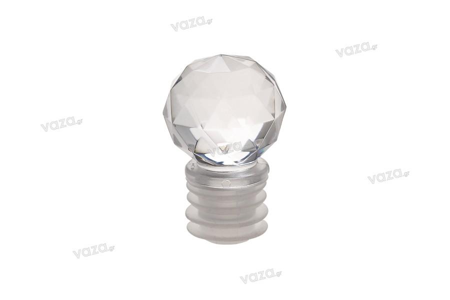 Πώμα ακρυλικό σε σχήμα διαμαντιού Φ 19.5
