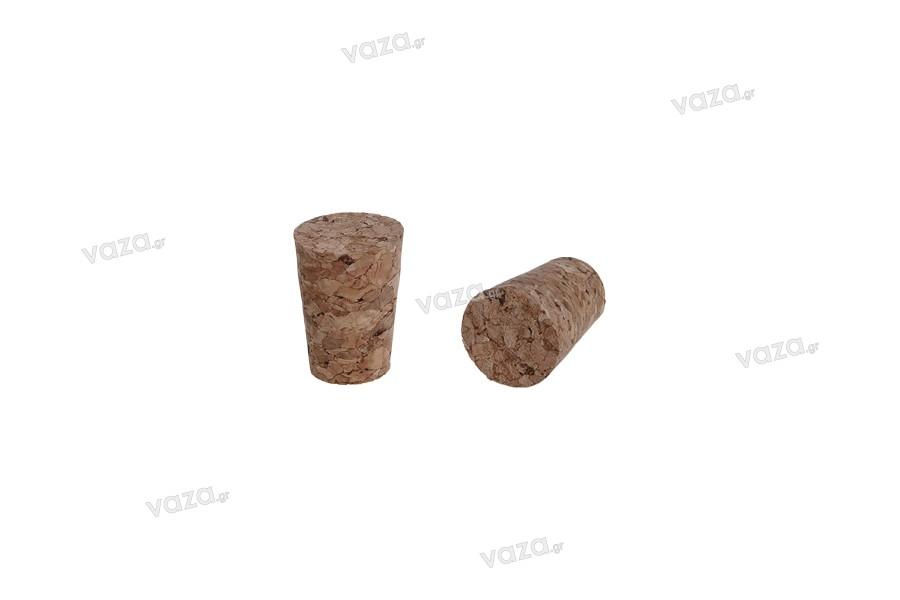 Φυσικός κωνικός φελλός με διαστάσεις 28x20/15 mm - για Φ 17 (PP24 / PP25)