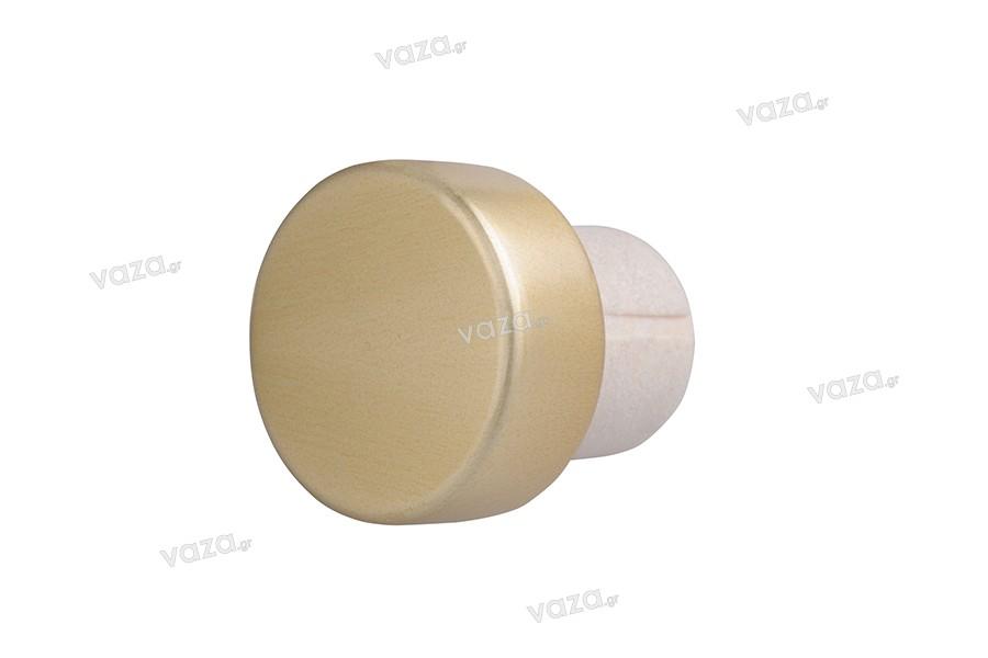 Συνθετικός Φελλός για Φ 23 με χρυσή ματ κεφαλή και κανάλι για καλύτερη εκτόνωση του αέρα
