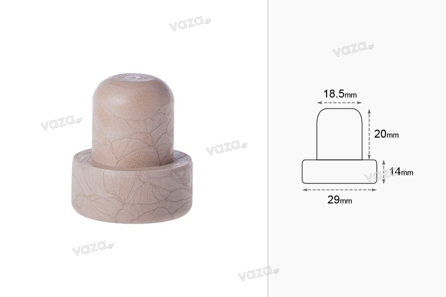 Συνθετικός φελλός σιλικόνης Φ 18.5