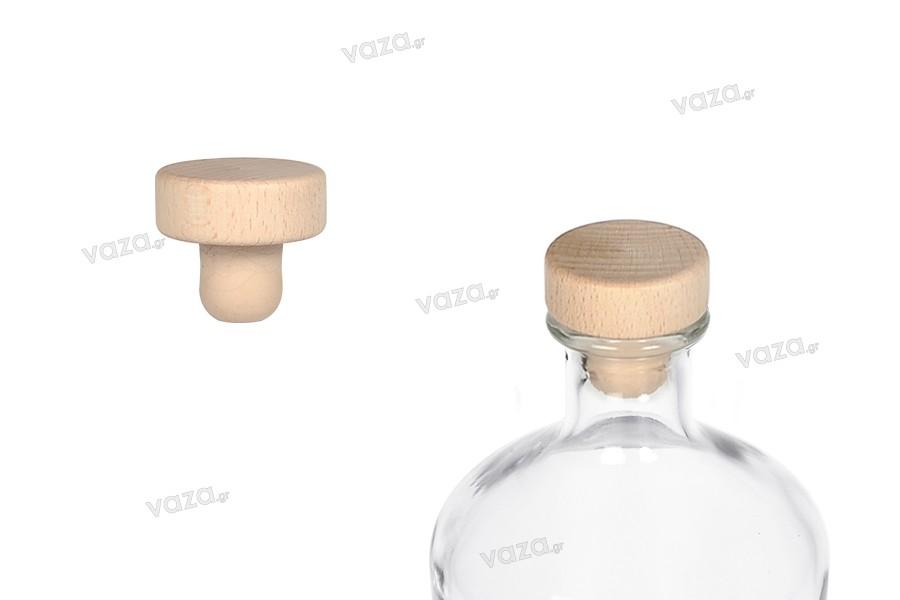 Συνθετικός φελλός σιλικόνης με ξύλινη κεφαλή - Ф 19 mm