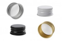 Bouchon à visser en aluminium pré-fileté 27,5X15 (PP28) avec joint (liner) - différentes couleurs