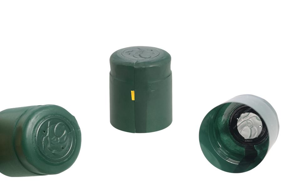 Καψύλιο  34,2x40 mm θερμοσυρρικνούμενο πράσινο για μπουκάλι με λαιμό μέχρι 34 mm