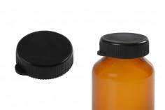 Capsule plastique noire sans sécurité - 12 pcs