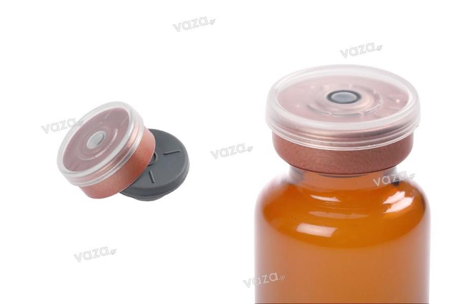 Καπάκι αλουμινίου με διάφανο πλαστικό κάλυμμα και τάπα σιλικόνης - 12 τμχ