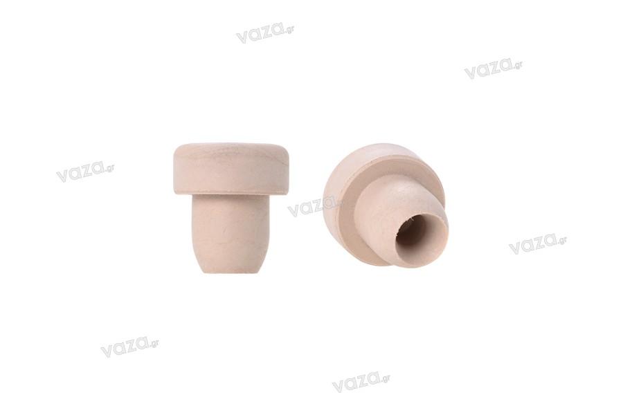 Συνθετικός φελλός σιλικόνης Ф 15,5 mm με τρύπα για καλύτερη εκτόνωση του αέρα