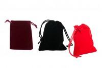 Pochette en velours 70x90 mm, variété de couleurs – lot de 50 pièces