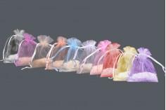 Πουγκί από οργάντζα 70x90 mm σε ποικιλία χρωμάτων - 100 τμχ