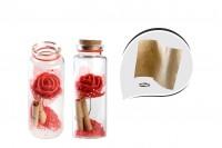 Bouteille de souhait en verre avec 12 boîtes en liège