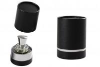 Boîte cylindrique pour bouteilles en papier 100x75 mm de couleur noire