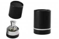Κουτάκι κυλινδρικό για μπουκαλάκια 100x75 mm χάρτινο σε μαύρο χρώμα