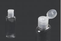 Μπουκαλάκι 60 ml πλαστικό (PET) οβάλ με flip-top καπάκι