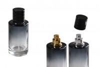 Flacon en verre de parfum de 30 ml avec vaporisateur et couvercle noir (PP 15)