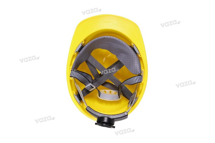 Κράνος προστασίας σε κίτρινο χρώμα