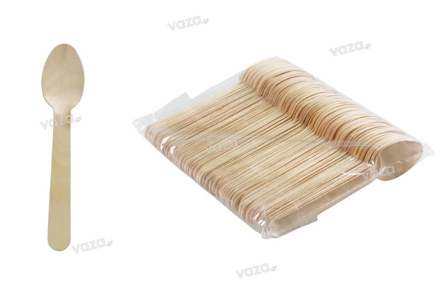Κουταλάκια ξύλινα 140 mm - 100 τμχ
