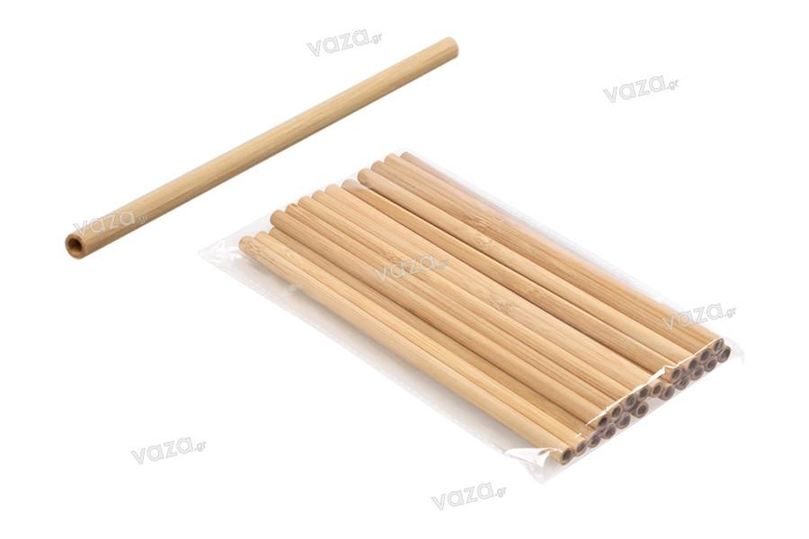 Καλαμάκια οικολογικά από bamboo 200x8 mm - 20 τμχ