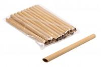 Καλαμάκια οικολογικά από bamboo 200x12 mm - 20 τμχ