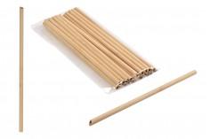 Καλαμάκια οικολογικά από bamboo 240x8 mm - 20 τμχ