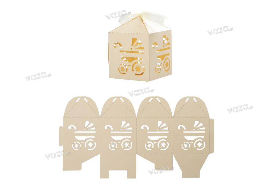 Χάρτινο κουτί συναρμολογούμενο 55x55x71 mm - 50 τμχ