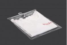 Σακούλες πλαστικές 22x31 cm με κρεμάστρα - 50 τμχ