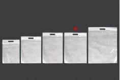 Σακουλάκια 350x450 mm πλαστικά (PE) με φερμουάρ - 100 τμχ