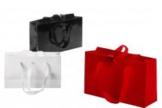 Τσάντα δώρου 250x80x150 mm με χερούλι και κορδέλα για δέσιμο σε διάφορα χρώματα - 20 τμχ