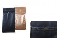 """Σακουλάκια αλουμινίου τύπου Doy Pack με κλείσιμο """"zip"""" και δυνατότητα σφράγισης με θερμοκόλληση 135x72x265 mm - 50 τμχ"""
