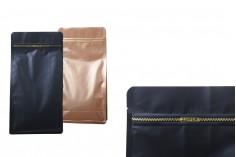 Sachets DOYPACK en aluminium avec zip et possibilité de fermeture de collage à chaud 135x72x65 mm – pack de 50 pièces