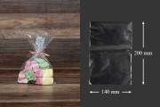 Σακουλάκια - φιλμ συρρίκνωσης (POF shrink) για την συσκευασία τροφίμων 140x200 mm - 100 τεμάχια