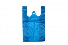 Σακούλα πλαστική 20x32 cm σε μπλέ χρώμα - 100 τμχ