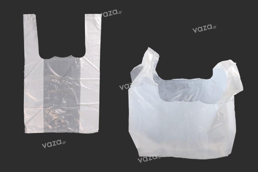 Σακούλα πλαστική 20x32 cm διάφανη - 100 τμχ
