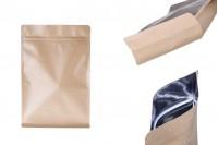 """Σακουλάκια κραφτ τύπου Doy Pack, xωρίς τρύπα, με κλείσιμο """"zip"""", εσωτερική επένδυση αλουμινίου και δυνατότητα σφράγισης με θερμοκόλληση 200x80x300 mm - 50 τμχ"""