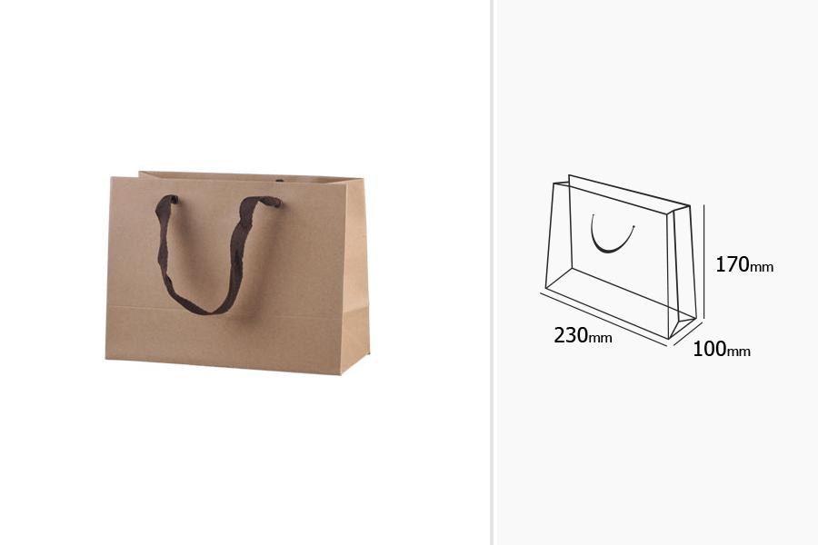 ... Τσάντα δώρου χάρτινη οικολογική κραφτ - χερούλι καφέ με 20 mm φακαρόλα  - 230x100x170 ... bb449fd0a3a