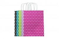 Σακούλα χάρτινη πουά 250x120x330 mm σε ποικιλία χρωμάτων