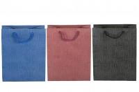 Sac en papier avec poignée 160 x 80 x 200 mm dans différentes couleurs